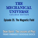 The Mechanical Universe Episode 35: The Magnetic Field