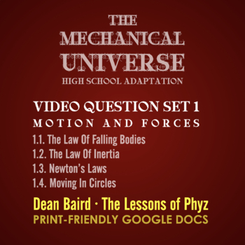 The Mechanical Universe High School Set 1: Motion and Forces