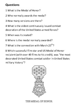 The Medal of Honor Handout
