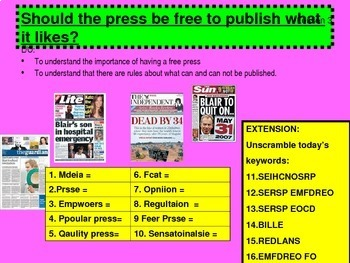The Media - Bias , Regulations and how it shapes our views.