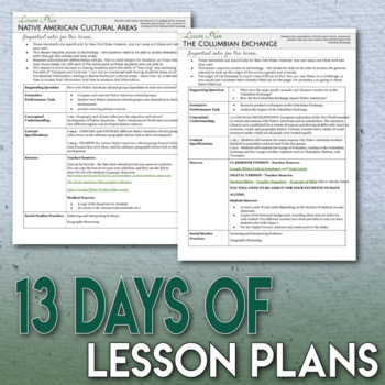 The Meeting of Three Worlds Full Unit Bundle 7 Engaging Lessons and Assessment