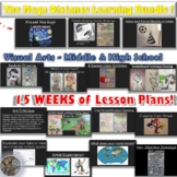 The Mega Visual Art Distance Learning Lesson BUNDLE! Middl