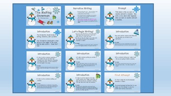 The Melting Snowman Guided Narrative Writing Lesson
