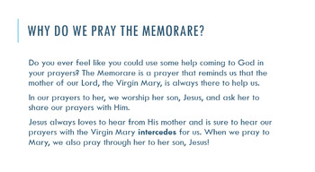 The Memorare: What Does it Mean?