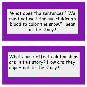 3-6 Reading Response activity:The Memory Coat