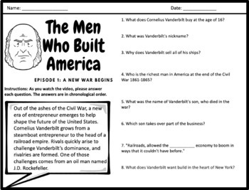 The Men Who Built America - Complete Video Guides for Every Episode