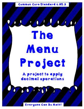 The Menu Project:  A Decimal Project