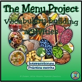 Food Topic Activity: The Menu Project - El proyecto de la carta