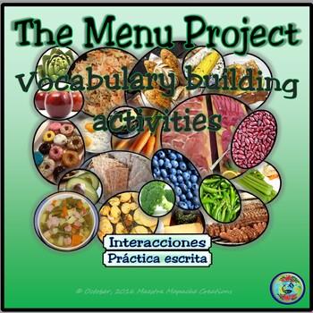 Food Topic Activity: The Menu Project - El proyecto de la carta