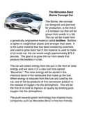 The Mercedes Benz Biome Concept Car