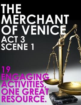 The Merchant of Venice Act 3 Scene 1 Choice Menu With 19 E