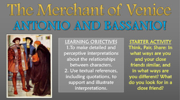 The Merchant of Venice - Antonio and Bassanio!