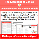 The Merchant of Venice – Comprehension and Analysis Bundle