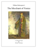 The Merchant of Venice Crossword Puzzle