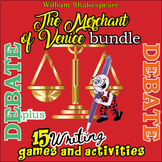 The Merchant of Venice Fun Activities Bundle- 35 games & a debate -30%