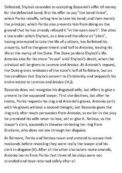 The Merchant of Venice Handout