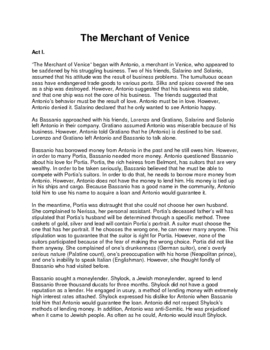 The Merchant of Venice: Shakespeare