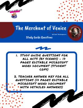 the merchant of venice study guide questions and answers by mirela rh teacherspayteachers com merchant of venice study guide pdf in hindi merchant of venice study guide pdf in hindi