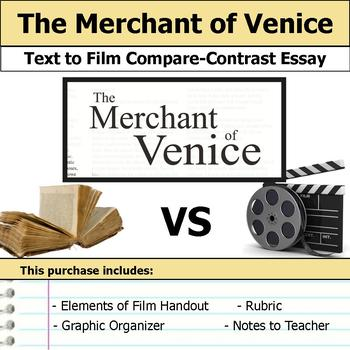 The Merchant of Venice by William Shakespeare - Text to Film Essay Bundle