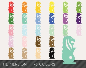 The Merlion Digital Clipart, The Merlion Graphics, The Mer