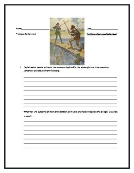 The Merry Adventures of Robin Hood supplemental materials
