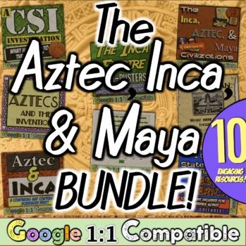 Mesoamerica Unit Bundle: 9 hands-on resources for the Incas, Aztecs, & Mayas!