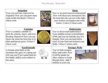 The Mesopotamia Game