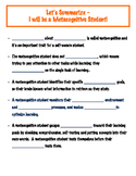 The Metacognitive Student - Lesson 2- Guided Notes