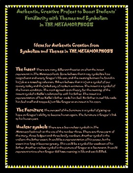 The Metamorphosis - Authentic Project to Boost Theme/Symbolism Understanding