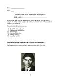 The Metamorphosis Reading Guide
