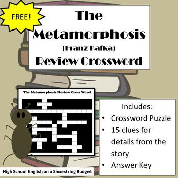 The Metamorphosis Review Crossword (Franz Kafka)