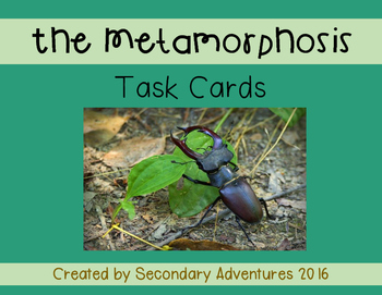 The Metamorphosis Task Cards