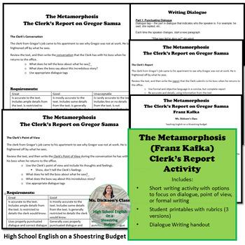 The Metamorphosis The Clerk's Report on Gregor Samsa Activity (Franz Kafka)