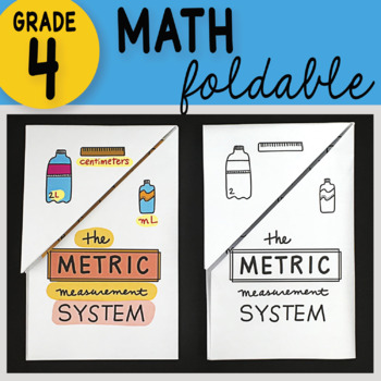 Doodle Notes - The Metric Measurement System Math Foldable