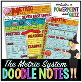 The Metric System Doodle Notes for Science with PowerPoint & Quiz