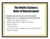 The Metric System & Units of Measurement Wall Posters Sign