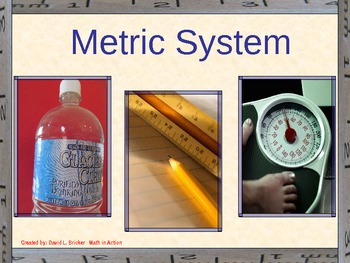 The Metric System and Handout Math PowerPoint