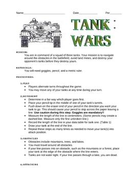 The Metric Tank Wars Worksheet