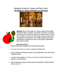 The Mezquita: Muslim - Identify Author's purpose/ Point of View Wksht