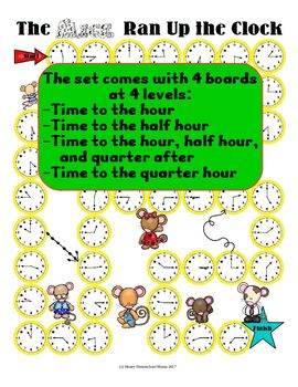 The Mice Ran Up the Clock - A Time Telling Game to the Quarter Hour