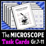 The Microscope - Task Cards {Editable}