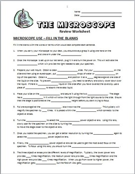 microscope worksheets resultinfos. Black Bedroom Furniture Sets. Home Design Ideas