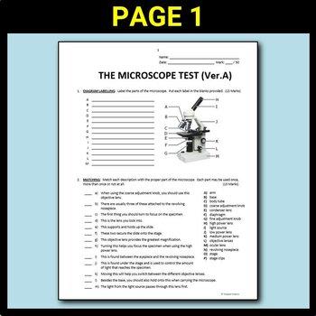 The microscope test editable by tangstar science tpt the microscope test editable ccuart Images