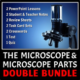 The Microscope and Microscope Parts DOUBLE LESSON BUNDLE {Editable}