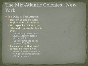The Mid-Atlantic Colonies