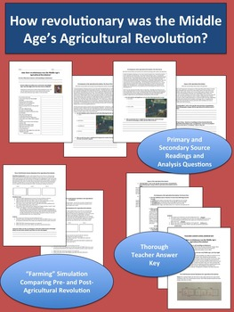 The Agricultural Revolution in the Middle Ages - Worksheets and Fun Simulation!