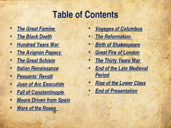 The Middle Ages - Early, High & Late Middle Ages - Unit Overview
