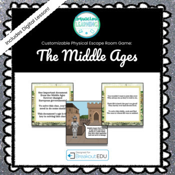 The Middle Ages Customizable Escape Room / Breakout Game