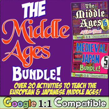 Middle Ages Bundle:  Medieval Times in Europe and Japan!  Save Big!