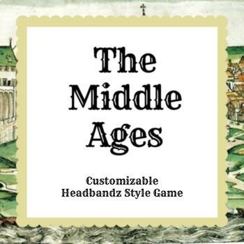 The Middle Ages Customizable Headbandz Game